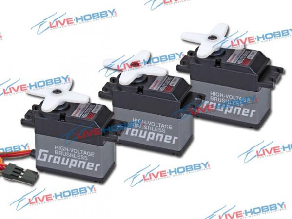 Graupner Servo HBS 870 BB MG Brushless HV 3er Set