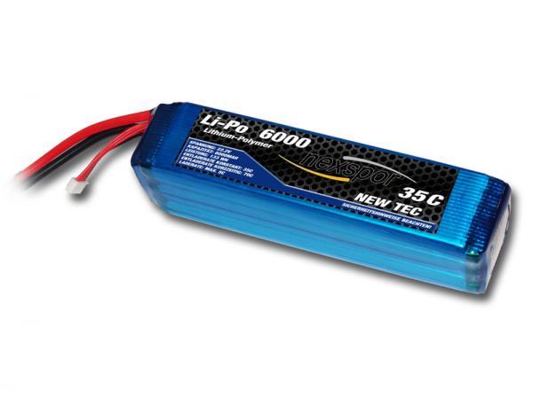 Nexspor NEW-TEC Li-Po Battery 22,2V 6000mAh 35C