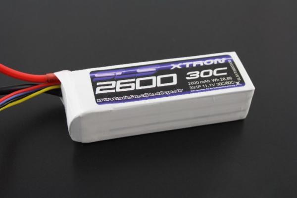 SLS XTRON 2600mAh 6S1P 22,2V 30C/60C