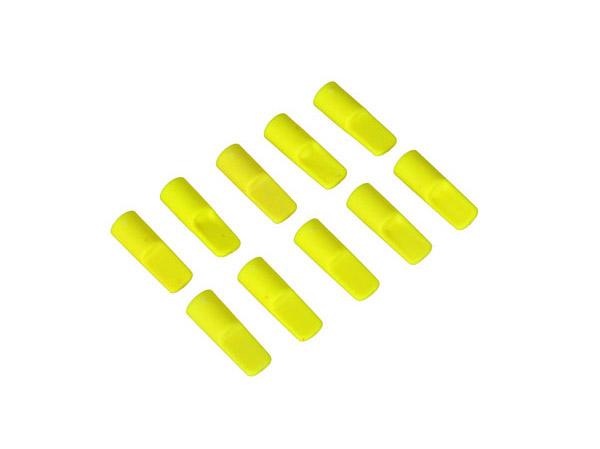 Mikado Abdeckkappe für 5,5mm Goldkontakstecker, neon-gelb