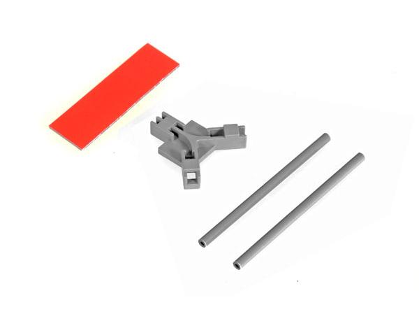Mikado Antennenhalter flach, grau