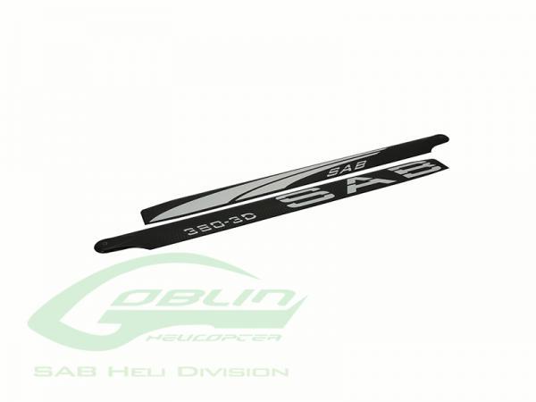 SAB 380 SAB Blackline 380 3D CFK Hauptrotorblätter - WEISS