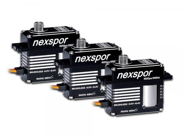 NEXSPOR Heli Brushless Servo Set 3x BLS3515S