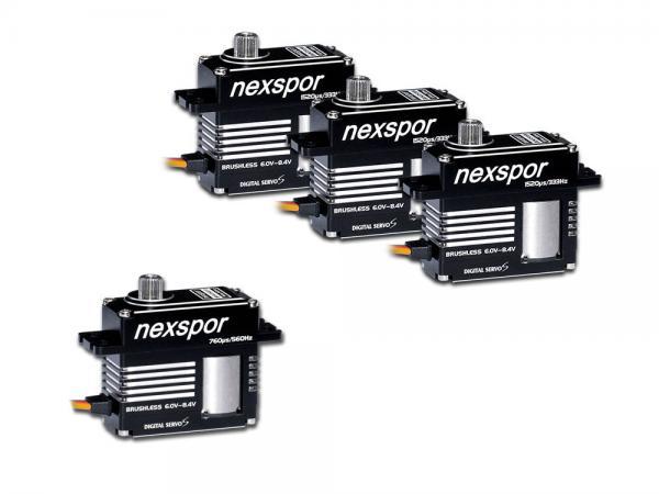 NEXSPOR Heli Brushless Servo Set 3x BLS3515S / 1x BLS3507T # BLS3515S-07T-SET