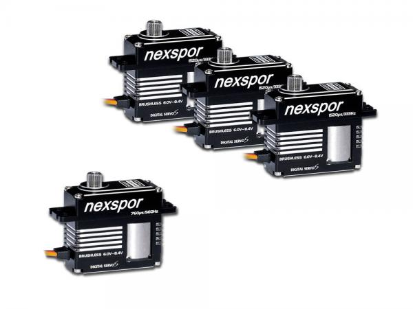 NEXSPOR Heli Brushless Servo Set 3x BLS3515S / 1x BLS3507T