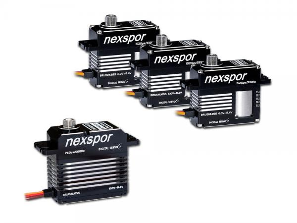 NEXSPOR Heli Brushless Servo Set 3x BLS3515S / 1x BLS4012T