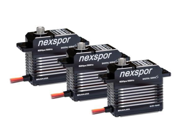 NEXSPOR Heli Servo Set 3x BLS4021S