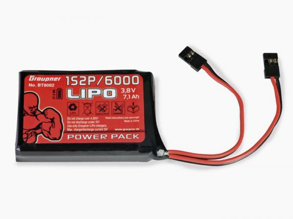 Graupner Senderakku flach Li-Po 1SxP/6000 3,8V TX