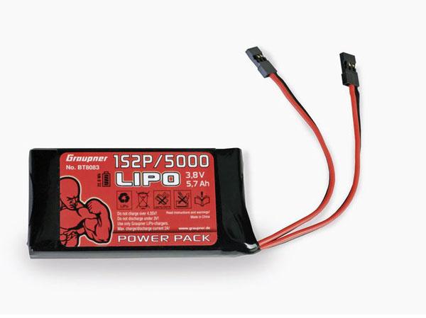 Graupner Senderakku Li-Po 1S2P/5000 3,8V TX