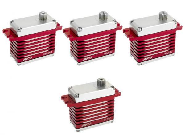 MKS HV Digital Servo Brushless combo 3x HBL850 und 1x HBL880