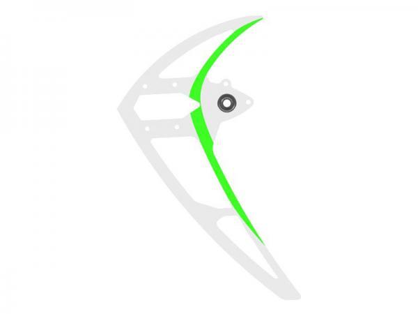 Mikado LOGO 600 Carbon-Seitenleitwerk, weiß-grün
