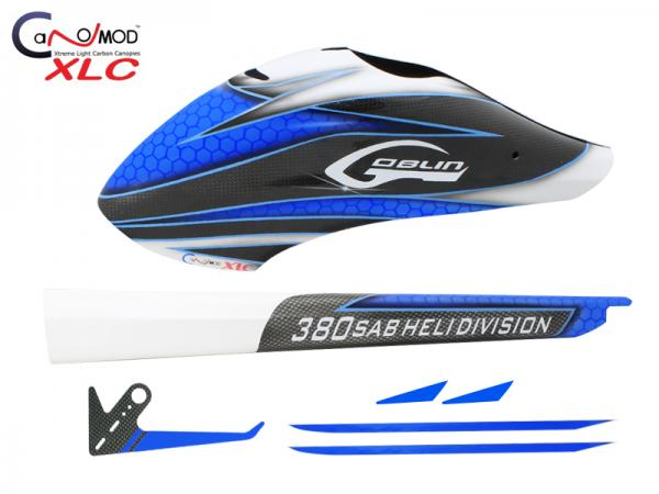CANOMOD Blue Eyes (Carbon Canopy - Tail Boom - Tail Fin) Goblin 380