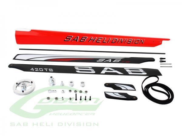 SAB Goblin 380 zu 420 Conversion Kit rot