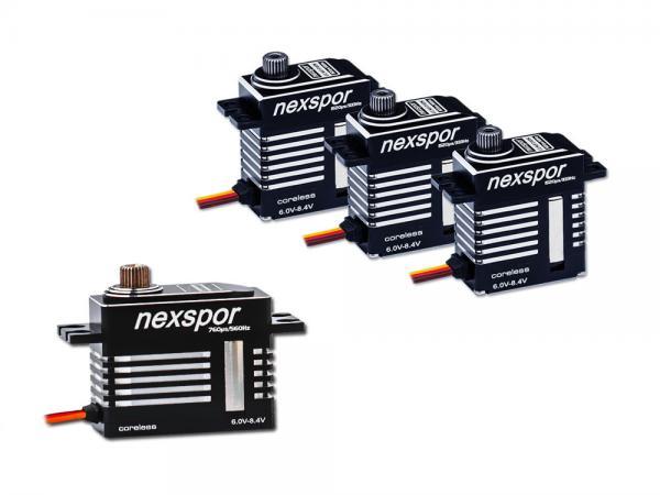 NEXSPOR Heli Servo Set 3x CLS2310S V2 / 1x CLS3507T