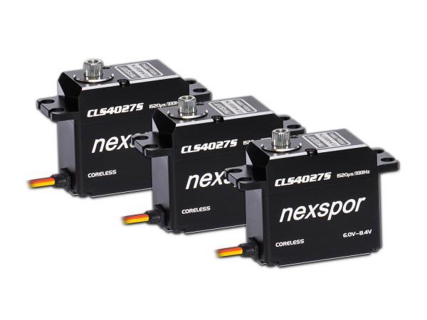 NEXSPOR Heli Servo Set 3x CLS4027S