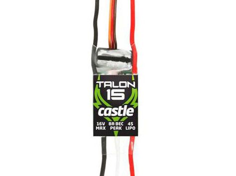 Castle Talon 15, 15AMP ESC, HEAVY DUTY BEC # CSE010012900
