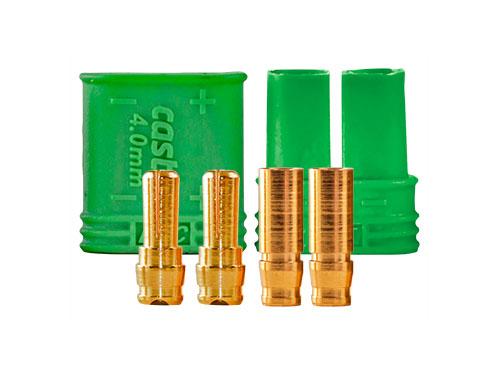 Castle 4mm Goldstecker Set Stecker/Buchse