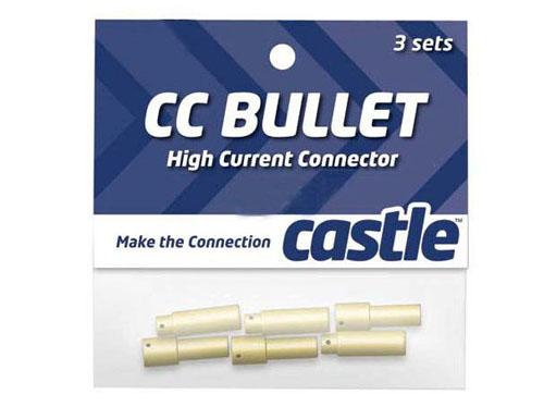 Castle Set mit 3Stk 4mm Goldsteckverbindungen (Stecker, Buchse)