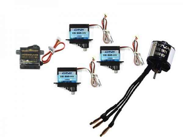 Nexspor Servoset 3x DS-895-HV, 1x H0988UHS und Motor EOX 1611-5500KV