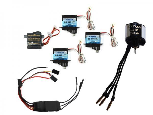 Nexspor Servoset 3x DS-895-HV, 1x H0988UHS, Motor EOX 1611-5500KV + HW 25A-V4