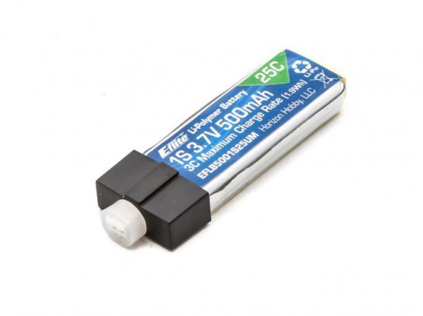 E-flite 500mAh 1S 3.7V 25C LiPo mit UMX Stecker
