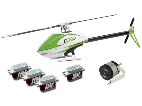 Compass EXO 500 mit Motor, Servos und CF Rotorblätter - Grün # eXoG-CC
