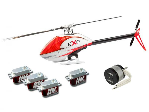 Compass EXO 500 with Motor, Servos and CF Rotorblades - Red
