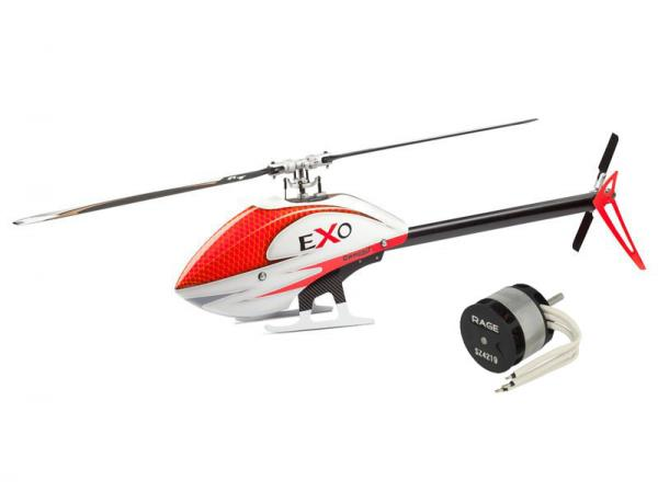 Compass EXO 500 with Motor and CF Rotorblades - Red