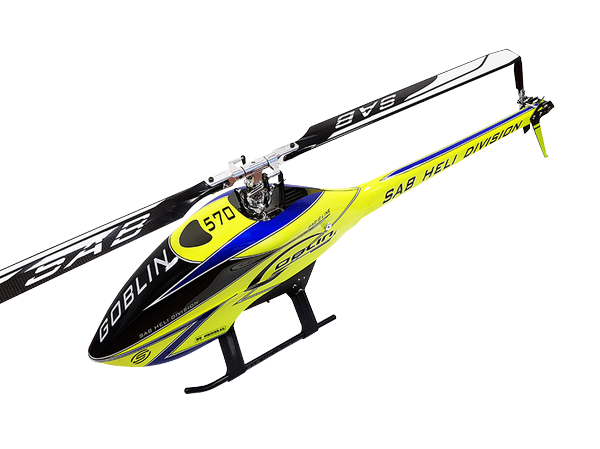 SAB GOBLIN 570 SPORT LINE Yellow (with Rotorblade)