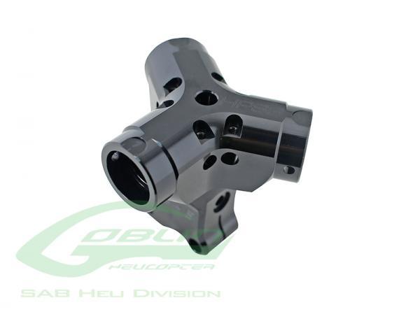 SAB Goblin 630 / 700 / 770 / Competition / Speed Alu Rotorkopfzentralstück HPS3 Black Edition