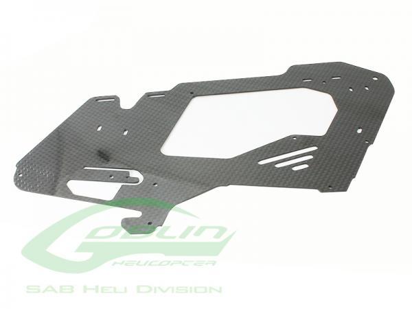SAB Goblin 380 CFK Chassi Seitenplatte