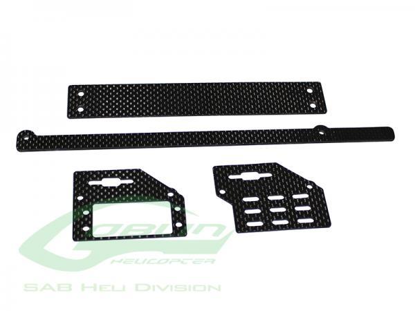 SAB Goblin Black Nitro Carbon Support Rahmen/Halter Set