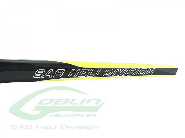 SAB Goblin Black Nitro / Thunder Carbon Heckrohr Gelb / Carbon 650er Größe