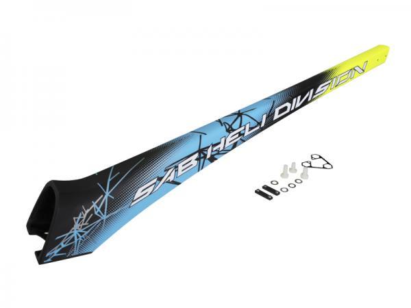 SAB Goblin Kraken 580 Carbon Heckrohr gelb/blau