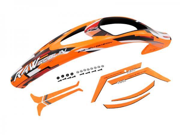 SAB Goblin RAW 700 Haube orange mit Aufkleber