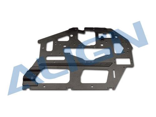 Align T-Rex 700E DFC / 700L matt Carbon Rahmenplatte 2mm (links)
