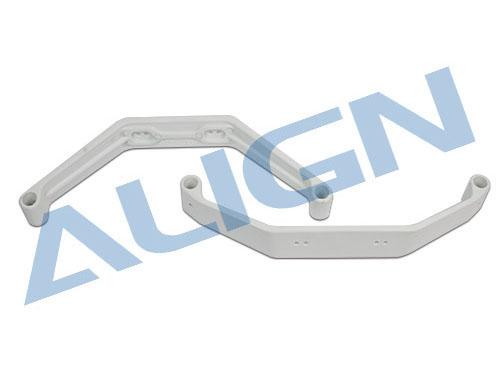 Align T-REX 550 / 600 / 700 / 800 Landegestell Bügel für 5° Keilform (weiss) # H70F001XXT