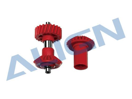 Align T-REX 700X / 700L / 700E / 800E M1 Zwischengetriebe schrägverzahnt 22 Zähne (rot)