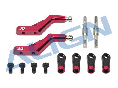 Align T-REX 760X 3D Blatthalterarm CNC Alu rot