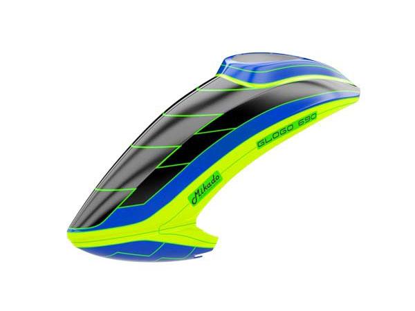 Mikado GLOGO 690 SX Haube, neon-gelb/blau