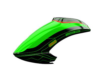 Mikado LOGO 550 Haube neon-grün/schwarz