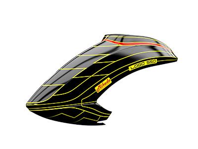 Mikado LOGO 550 Haube schwarz/neon-gelb