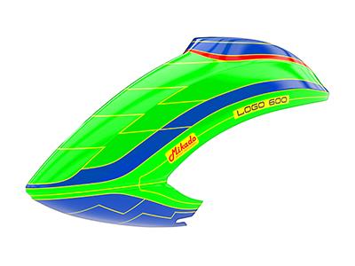 Mikado LOGO 600 Haube grün/blau/grün