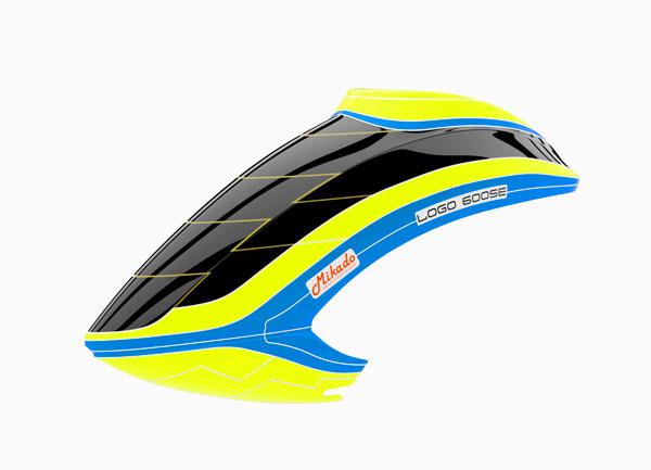 Mikado LOGO 600 SE V3 Haube neon-gelb/blau