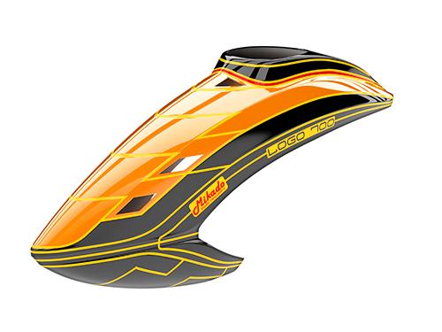 Mikado LOGO 700 Haube neon-orange/schwarz/gelb