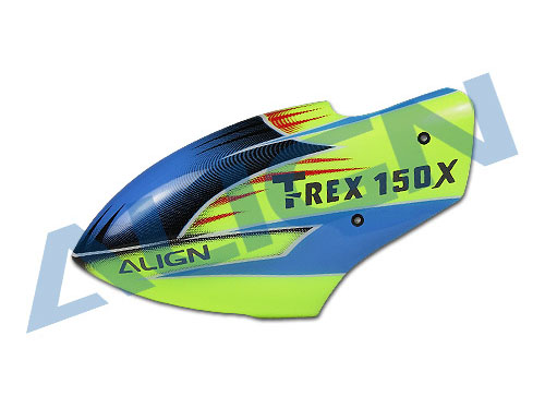 Align T-Rex 150X Kabinenhaube gelb/blau