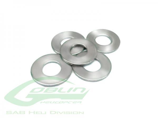 SAB Goblin Stahl Scheiben 5x7x0,1mm (4 Stück)