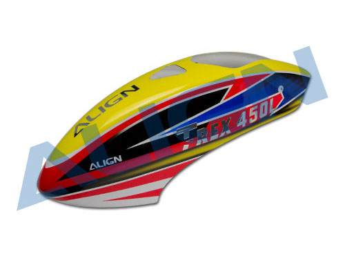 Align T-REX 450L Dominator Painted Canopy yellow