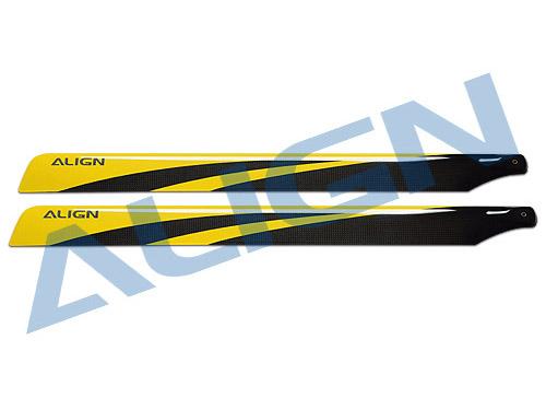 Align 650 Carbon Fiber Rotorblätter gelb 650mm