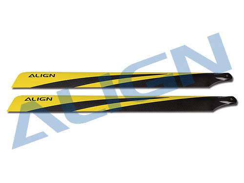 Align 700N Carbon Rotorblätter 700mm gelb